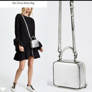 Rebecca minkoff crossbody silver bag